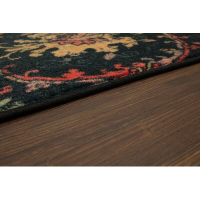Barkhampstead Gold/Black Area Rug Rug Size: Rectangle 5 x 8