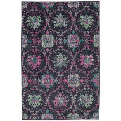 Barkhampstead Purple/Black Area Rug Rug Size: Rectangle 5 x 8