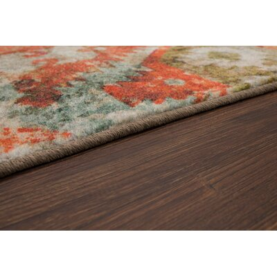 Barkhampstead Gray/Orange Area Rug Rug Size: Rectangle 5 x 8