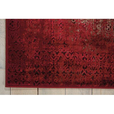 Saliba Red Area Rug Rug Size: Rectangle 710 x 106