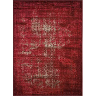 Saliba Red Area Rug Rug Size: Rectangle 53 x 74