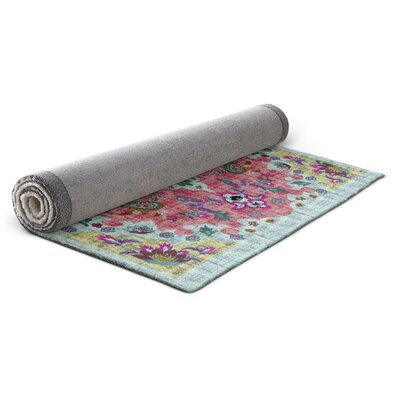 Dante Pink/Blue/Yellow Area Rug Rug Size: 8 x 10
