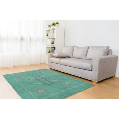 Stellan Green Area Rug Rug Size: Rectangle 2 x 3