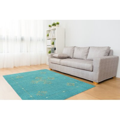 Hidden Hills Blue/Yellow Area Rug Rug Size: Rectangle 2' x 3'