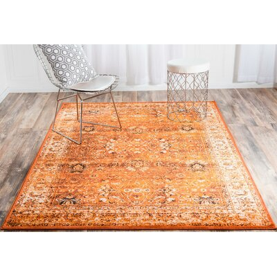 Banat Terracotta/Orange Area Rug Rug Size: 2 x 3
