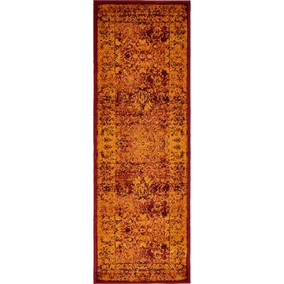 Neuilly Red/Orange Area Rug Rug Size: Runner 2 x 6