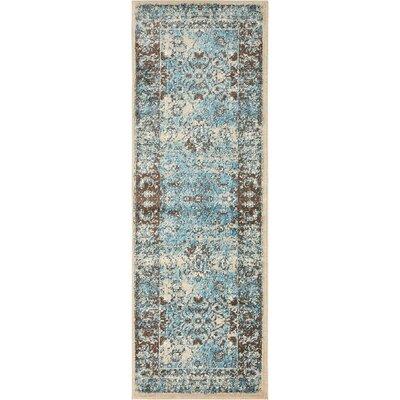 Yareli Blue/Beige Area Rug Rug Size: Runner 2 x 6