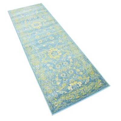 Bolton Turquoise/Green Area Rug Rug Size: Runner 2 x 6