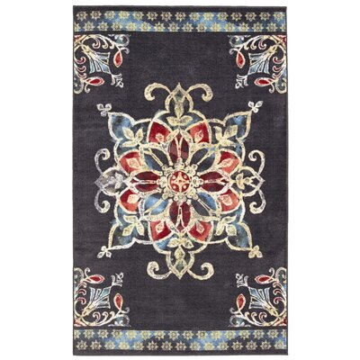 Montegue Charcoal Area Rug Rug Size: Rectangle 5 x 8