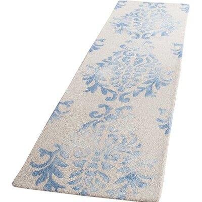 Jawhar Beige/Blue Area Rug Rug Size: Runner 23 x 6