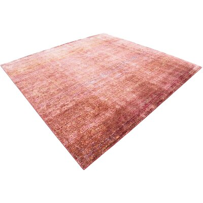 Center Red Area Rug Rug Size: Square 8