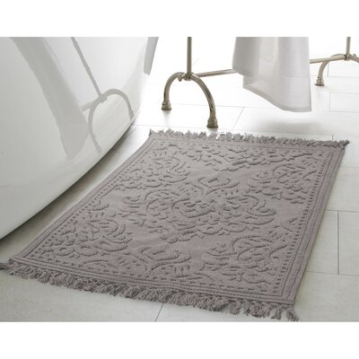 Garceau Cotton Fringe Bath Rug Color: Dark Gray, Size: 27 W x 45 L