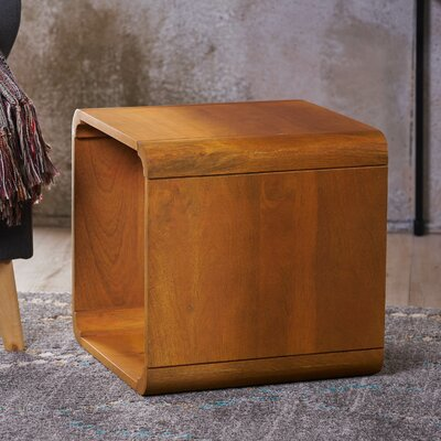 Mediouna Wood End Table Color: Orange
