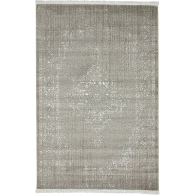 Sherrill Light Gray Area Rug Rug Size: Round 6