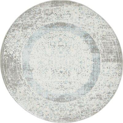 Twila Gray Area Rug Rug Size: Round 4