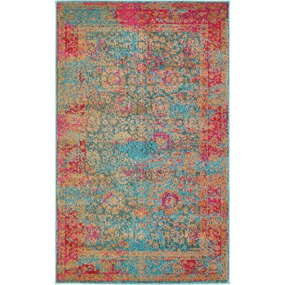Enid Blue Area Rug Rug Size: Rectangle 5 x 8