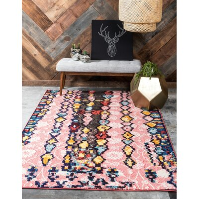 Shemar Pink Area Rug Rug Size: Rectangle 8' x 10'