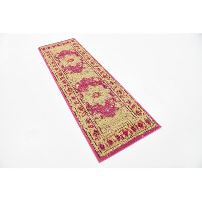Killington Pink/Beige Area Rug Rug Size: Runner 27 x 10