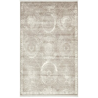 Sherrill Gray Area Rug Rug Size: Rectangle 4 x 6