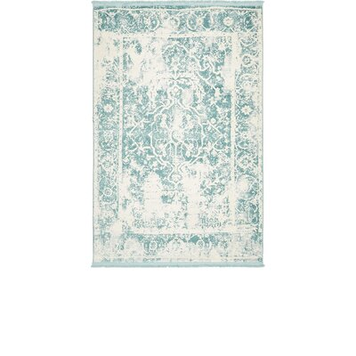 Sherrill Blue Floral Area Rug Rug Size: Rectangle 4 x 6