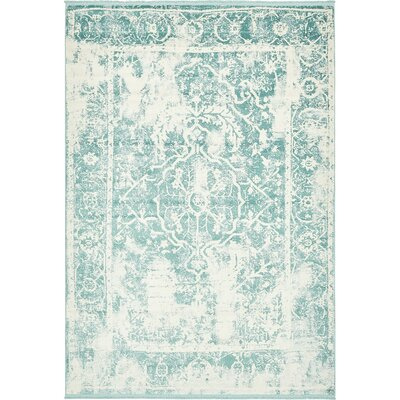 Sherrill Blue Floral Area Rug Rug Size: Runner 22 x 6