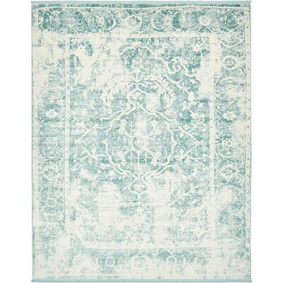 Sherrill Blue Floral Area Rug Rug Size: Rectangle 8 x 10