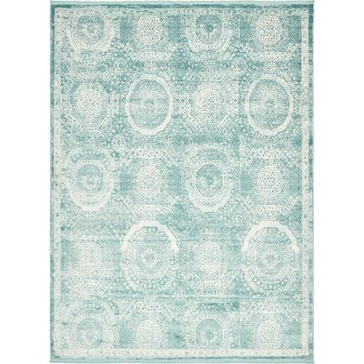 Sherrill Blue Area Rug Rug Size: Rectangle 9 x 12