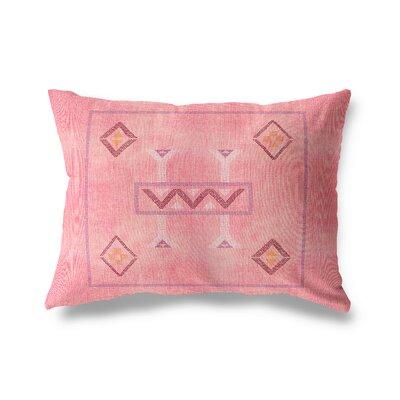 Rosina Lumbar Pillow Color: Pink, Size: 12