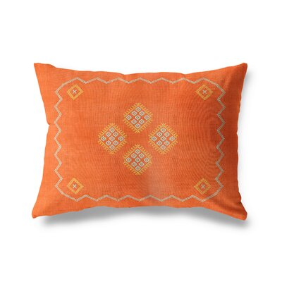 Stellan Double Sided Print Lumbar Pillow Color: Orange, Size: 12