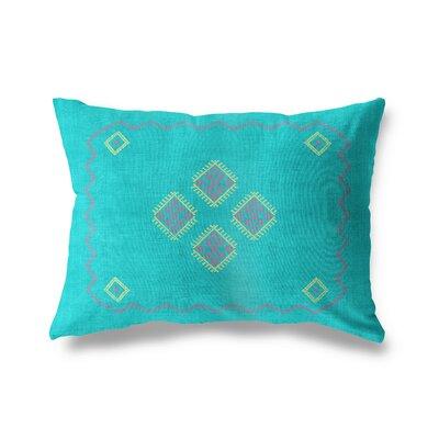 Stellan Double Sided Print Lumbar Pillow Color: Aqua, Size: 18