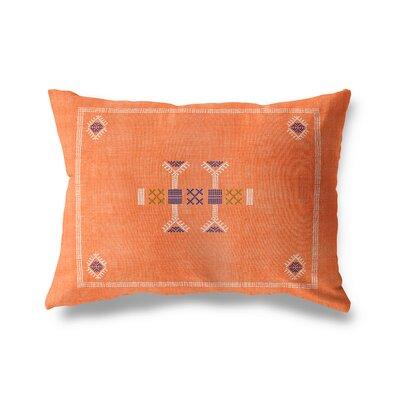 Zoe Outdoor Lumbar Pillow Color: Orange