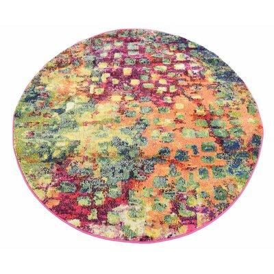 Massaoud Multicolor Area Rug Rug Size: Round 4'