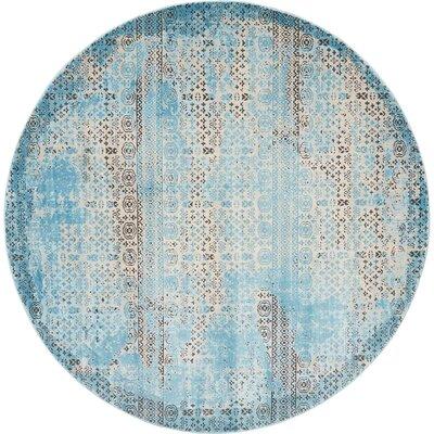 Saliba Blue Area Rug Rug Size: Round 710