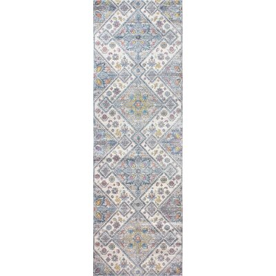 Goldie Ivory/Gray Area Rug Rug Size: Runner 27 x 8