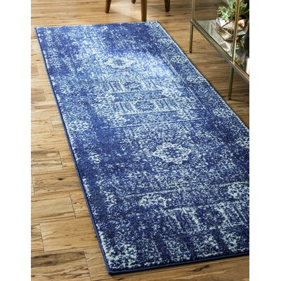 Ove Blue Area Rug Rug Size: Runner 22 x 6