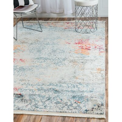 Lonerock Cream/Blue Area Rug Rug Size: Runner 22 x 6