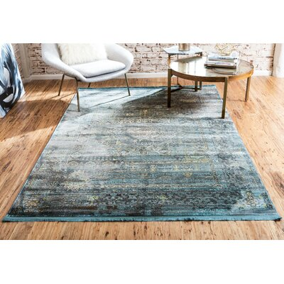 Lonerock Gray/Teal Area Rug Rug Size: Runner 22 x 6