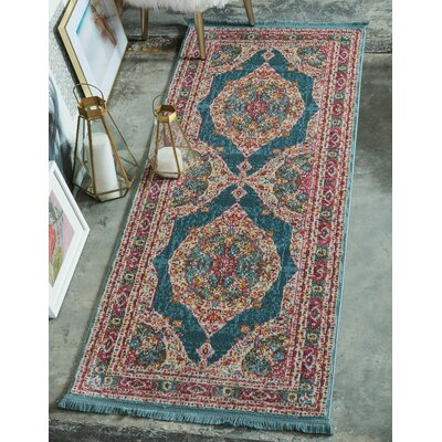 Lonerock Turquoise/Pink Area Rug Rug Size: Rectangle 10 x 13