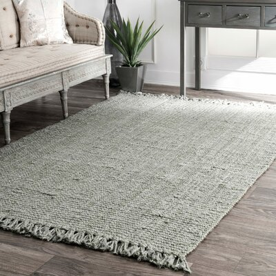 Windom Hand-Woven Gray Area Rug Rug Size: Rectangle 4 x 6