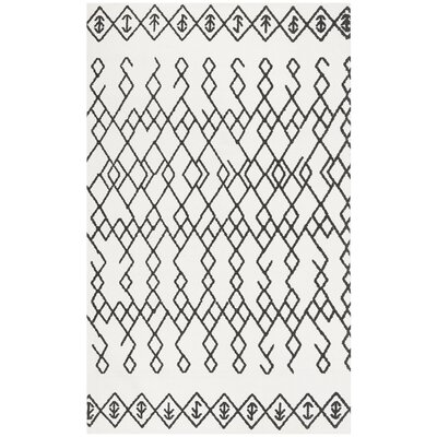 Owen Hand-Loomed Cotton Ivory Area Rug Rug Size: Rectangle 5 x 8