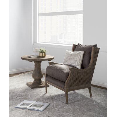Hayward Wingback Chair Upholstery: Stone-washed Brown