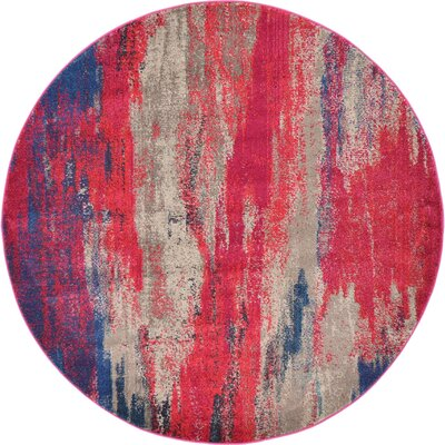Killington Red Area Rug Rug Size: Round 6