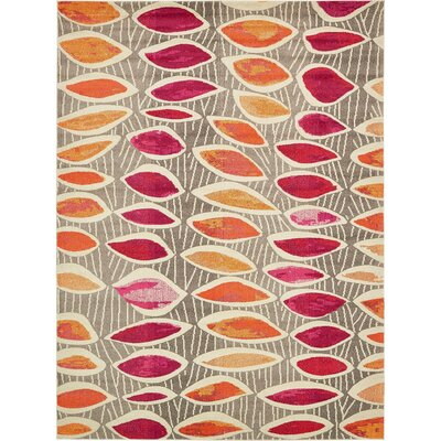 Fujii Light Brown Area Rug Rug Size: Rectangle 33 x 53