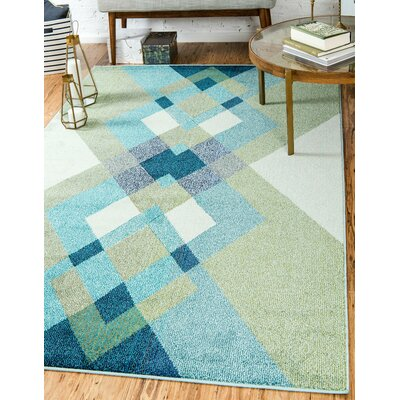 Fujii Green Area Rug Rug Size: Rectangle 5 x 8