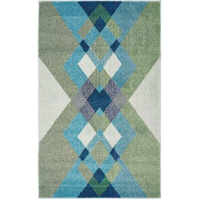 Fujii Green Area Rug Rug Size: Rectangle 33 x 53