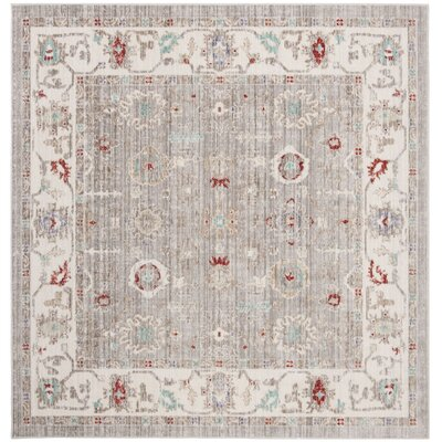 Jared Light Gray Area Rug Rug Size: Square 6