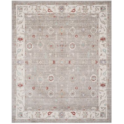 Jared Light Gray Area Rug Rug Size: Rectangle 3 x 5