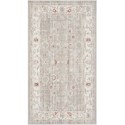 Jared Light Gray Area Rug Rug Size: Runner 3 x 12