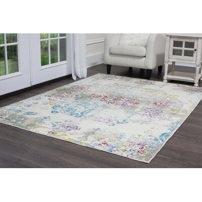 Brees Medallion Ivory Area Rug Rug Size: Rectangle 79 x 102