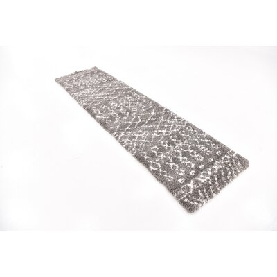 Bourne Machine woven  Gray Area Rug Rug Size: Runner 27 x 10